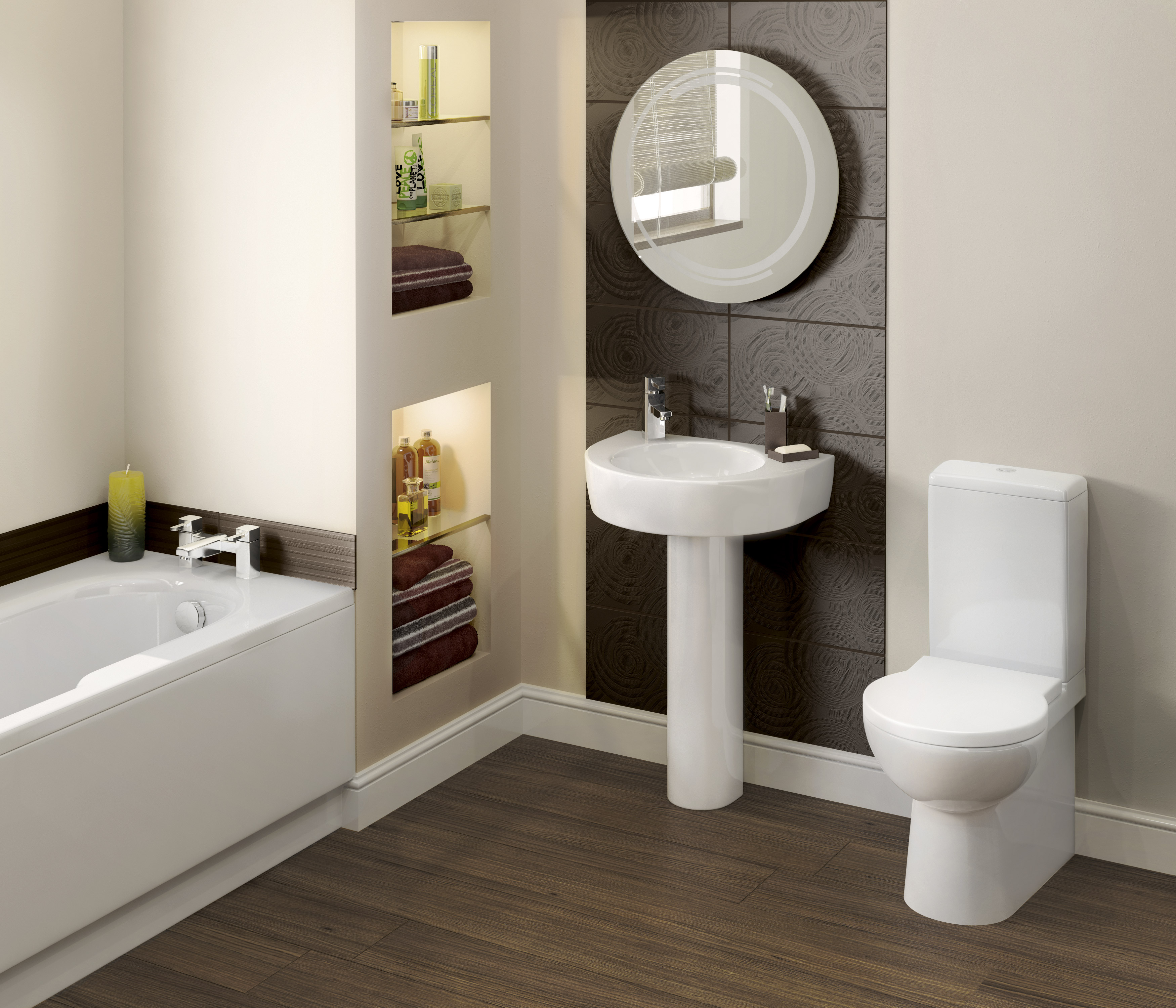 Bathroom design bathroom fitters bristol for Small bathroom images